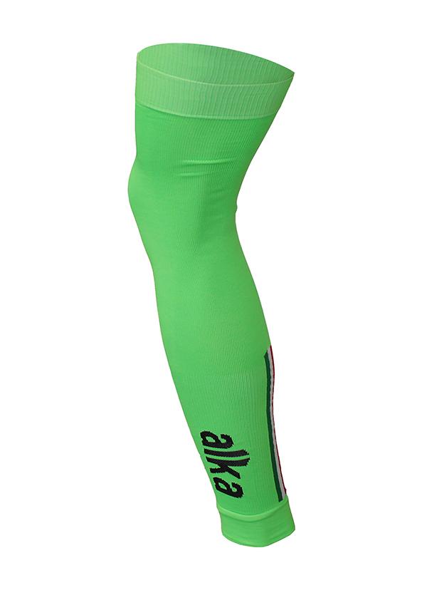 Abbigliamento Ciclismo Invernale - Gambali in Seamless Verde Fluo | STILLBIKE