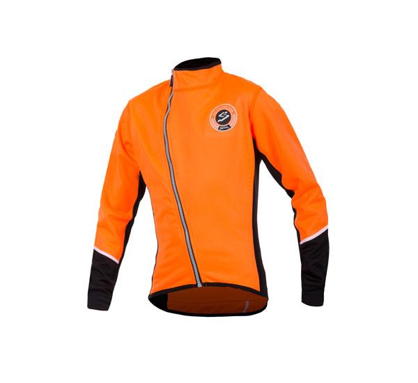 Abbigliamento Invernale Ciclismo - Giubbino Bambino Arancio | STILLBIKE