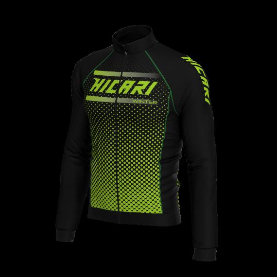 Abbigliamento Ciclismo Invernale - Giubbino Verde Plus di Hicari Sport  8047ee2e40f
